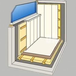 Утепление балконов и лоджий напылением пенополиуретана (ппу).